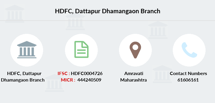 Hdfc-bank Dattapur-dhamangaon branch