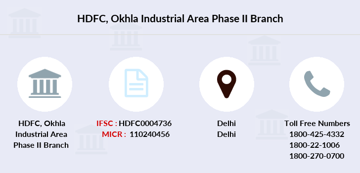 Hdfc-bank Okhla-industrial-area-phase-ii branch