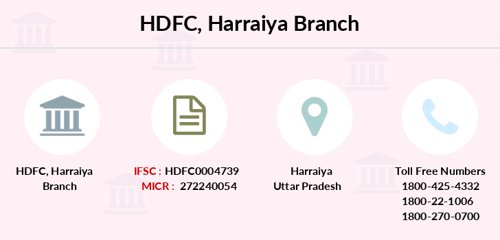 Hdfc-bank Harraiya branch