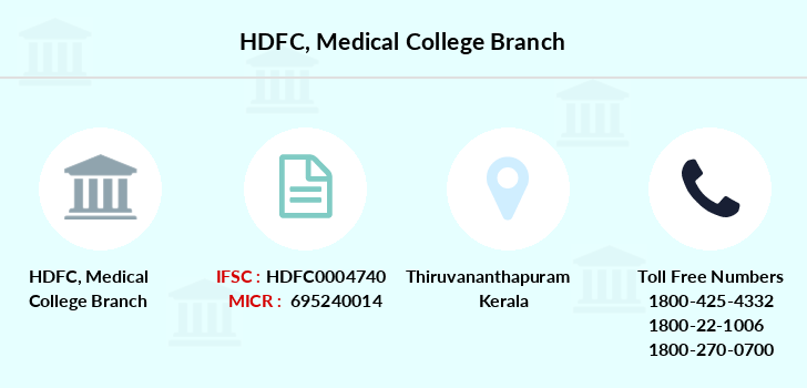 HDFC Medical College IFSC Code HDFC0004740
