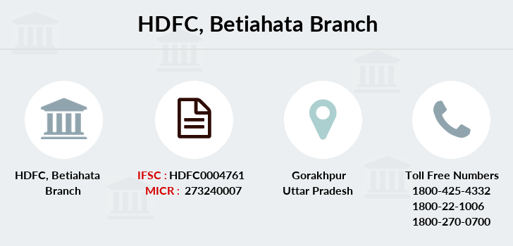 Hdfc-bank Betiahata branch