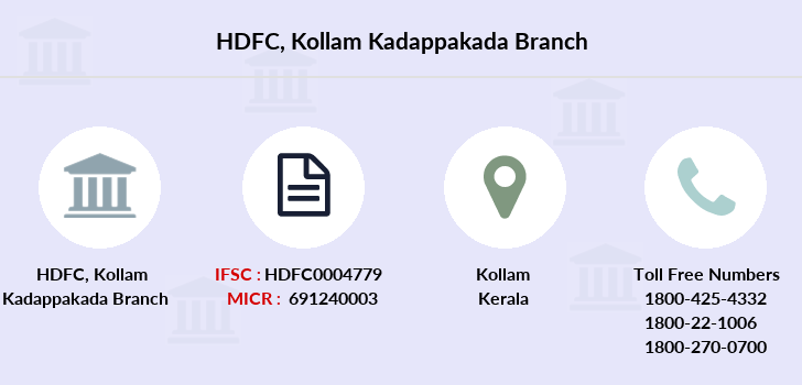 Hdfc-bank Kollam-kadappakada branch