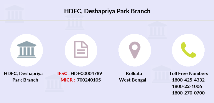 Hdfc-bank Deshapriya-park branch