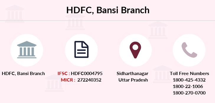 Hdfc-bank Bansi branch