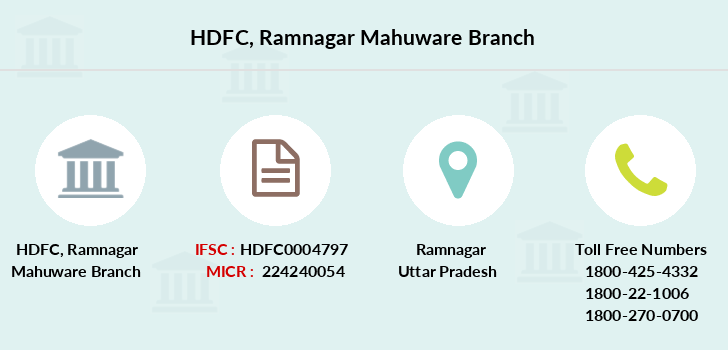 Hdfc-bank Ramnagar-mahuware branch