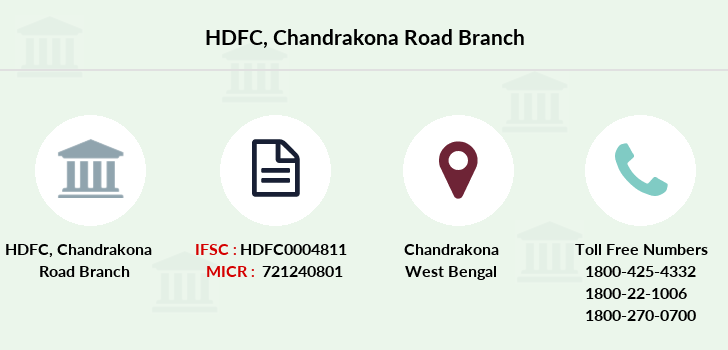 Hdfc-bank Chandrakona-road branch