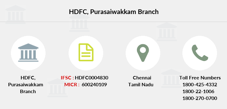 Hdfc-bank Purasaiwakkam branch
