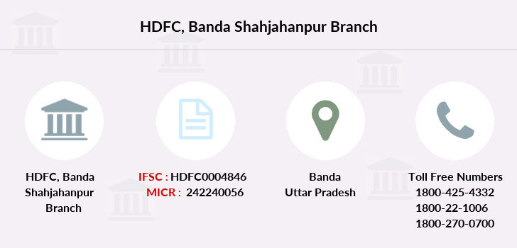 Hdfc-bank Banda-shahjahanpur branch