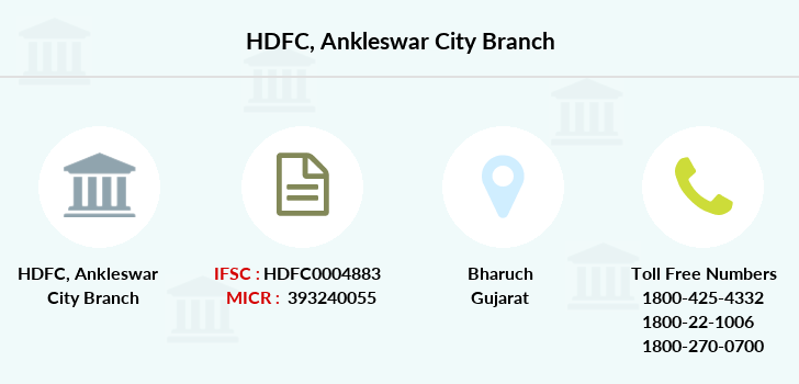 Hdfc-bank Ankleswar-city branch