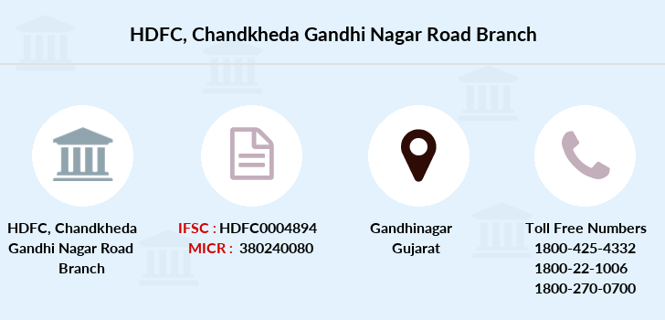 Hdfc-bank Chandkheda-gandhi-nagar-road branch