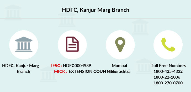 Hdfc-bank Kanjur-marg branch