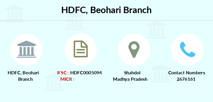 Hdfc-bank Beohari branch