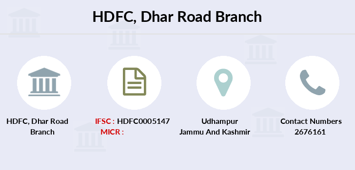 Hdfc-bank Dhar-road branch