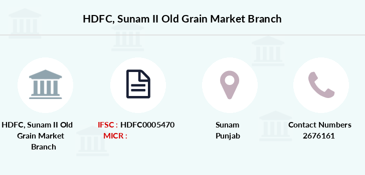 Hdfc-bank Sunam-ii-old-grain-market branch