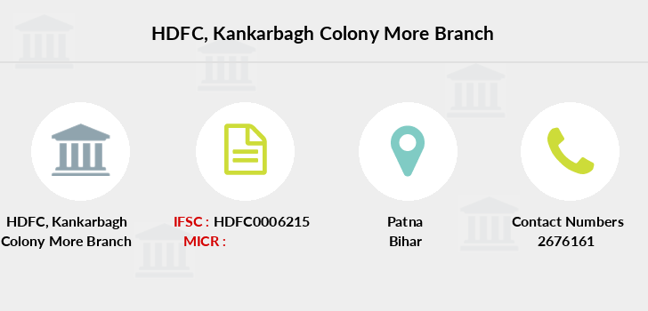 Hdfc-bank Kankarbagh-colony-more branch