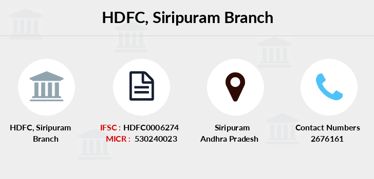 Hdfc-bank Siripuram branch