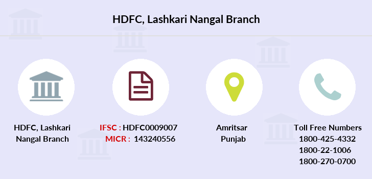 Hdfc-bank Lashkari-nangal branch