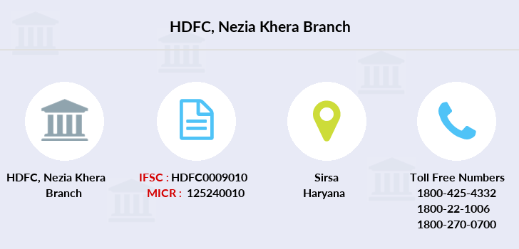 Hdfc-bank Nezia-khera branch