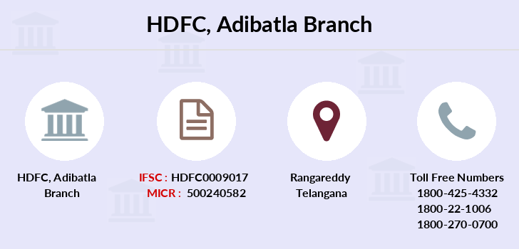 Hdfc-bank Adibatla branch