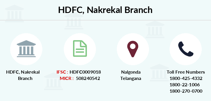 Hdfc-bank Nakrekal branch