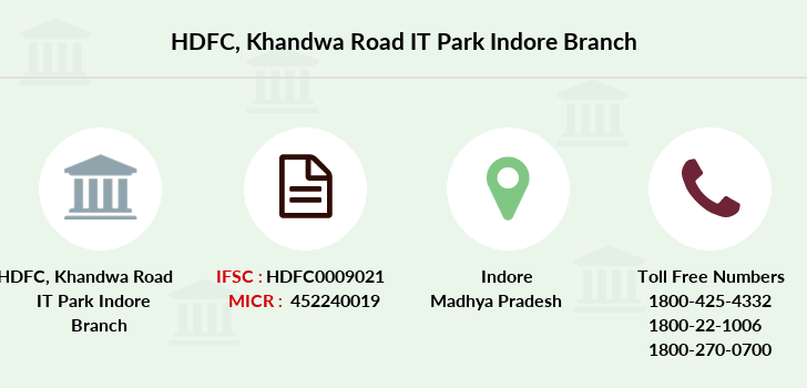 Hdfc-bank Khandwa-road-it-park-indore branch