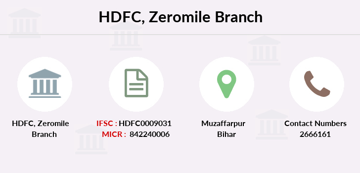 Hdfc-bank Zeromile branch