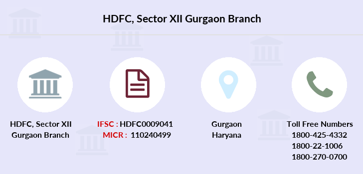 Hdfc-bank Sector-xii-gurgaon branch