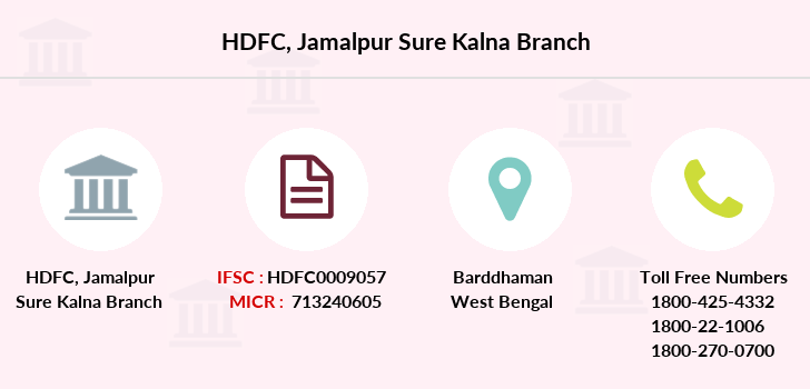 Hdfc-bank Jamalpur-sure-kalna branch