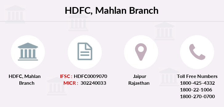 Hdfc-bank Mahlan branch