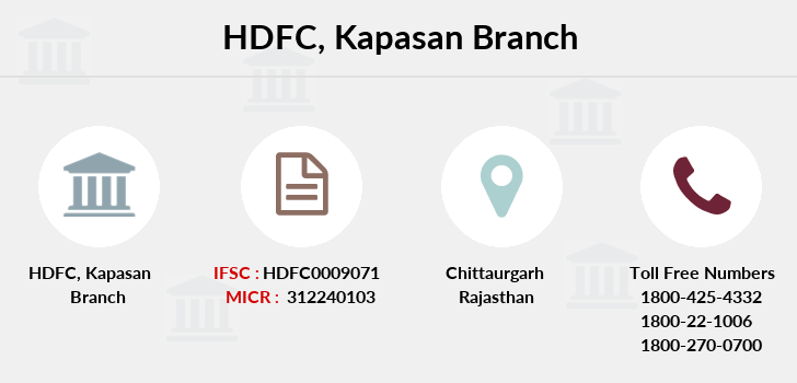 Hdfc-bank Kapasan branch