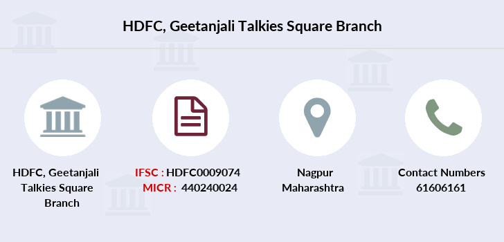 Hdfc-bank Geetanjali-talkies-square branch