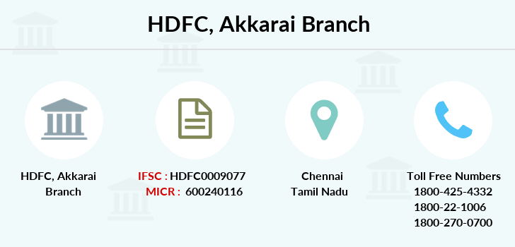 Hdfc-bank Akkarai branch