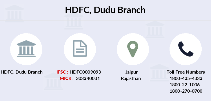 Hdfc-bank Dudu branch