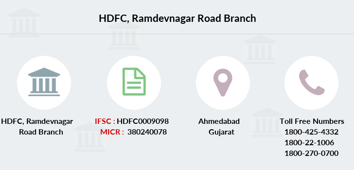 Hdfc-bank Ramdevnagar-road branch