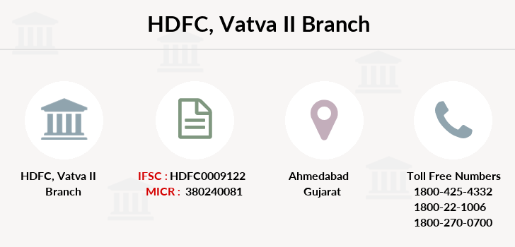 Hdfc-bank Vatva-ii branch