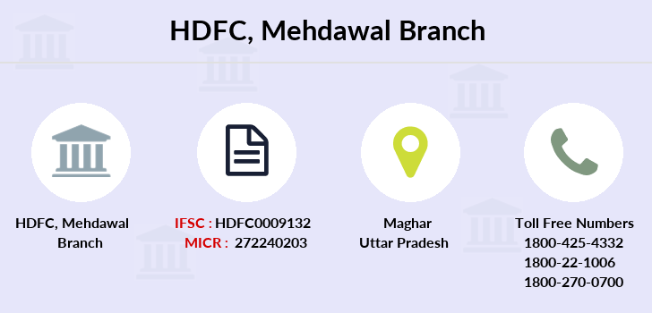 Hdfc-bank Mehdawal branch