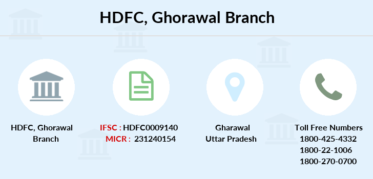 Hdfc-bank Ghorawal branch