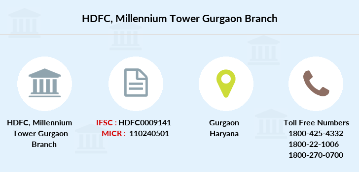 Hdfc-bank Millennium-tower-gurgaon branch