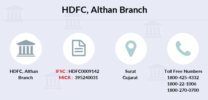 Hdfc-bank Althan branch