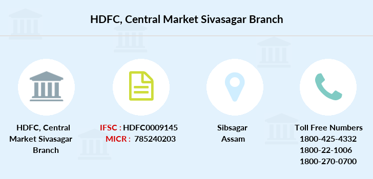 Hdfc-bank Central-market-sivasagar branch