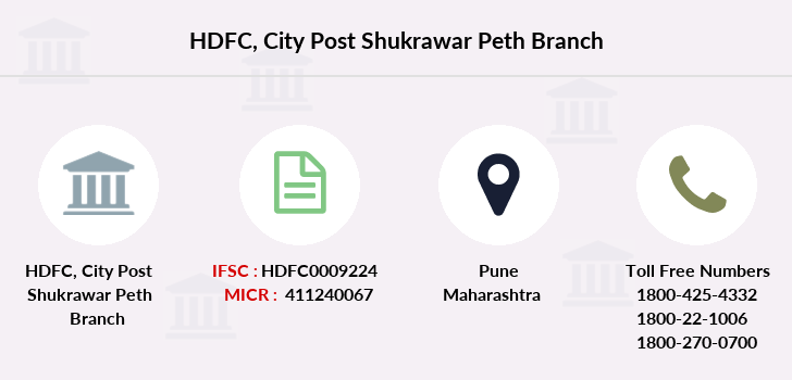 Hdfc-bank City-post-shukrawar-peth branch