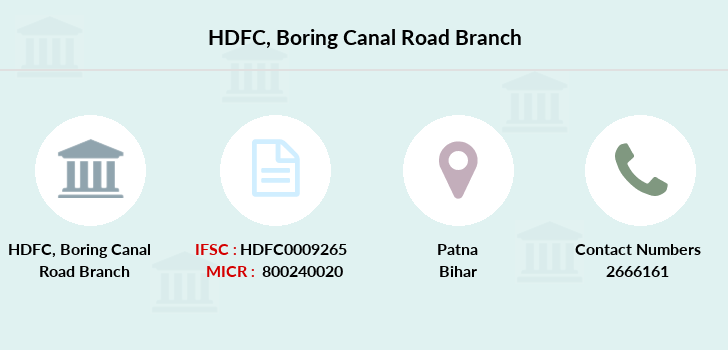 Hdfc-bank Boring-canal-road branch