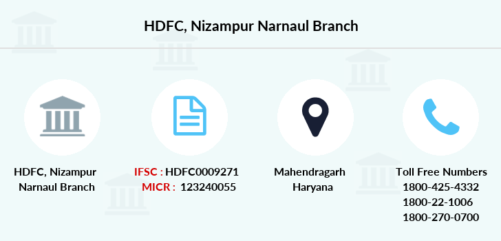 Hdfc-bank Nizampur-narnaul branch