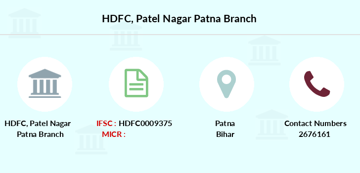 Hdfc-bank Patel-nagar-patna branch