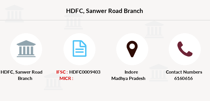 Hdfc-bank Sanwer-road branch