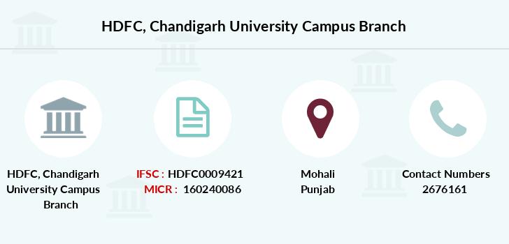 HDFC Chandigarh University Campus IFSC Code HDFC0009421