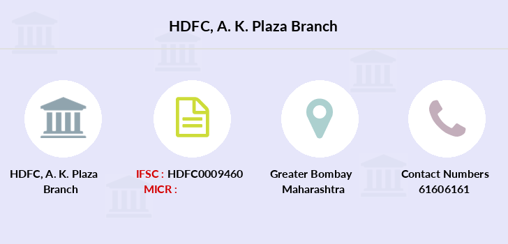 Hdfc-bank A-k-plaza branch