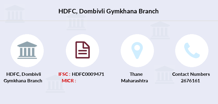 Hdfc-bank Dombivli-gymkhana branch