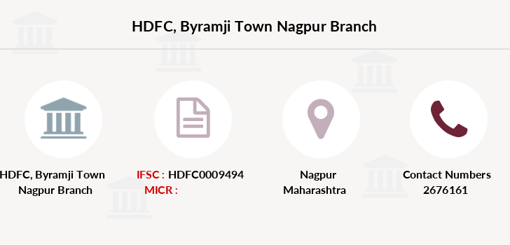 HDFC Byramji Town Nagpur IFSC Code HDFC0009494