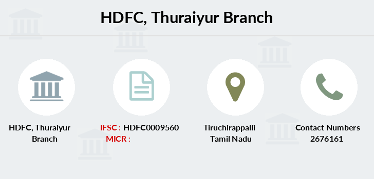 Hdfc-bank Thuraiyur branch
